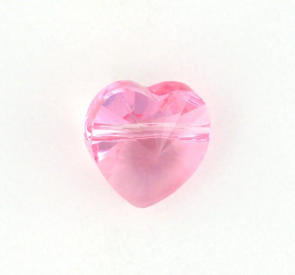 5742 - 8mm Swarovski Crystal Heart Bead - Light Rose
