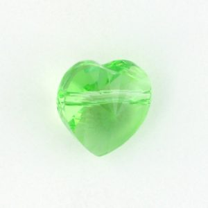 5742 - 8mm Swarovski Crystal Heart Bead - Peridot