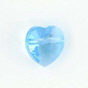 5742 - 10mm Swarovski Crystal Heart Bead - Aquamarine