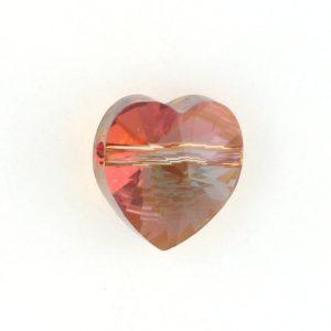 5742 - 10mm Swarovski Crystal Heart Bead - Copper