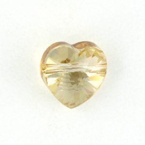5742 - 10mm Swarovski Crystal Heart Bead - Golden Shadow