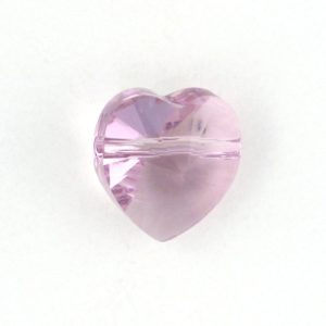 5742 - 10mm Swarovski Crystal Heart Bead - Light Amethyst