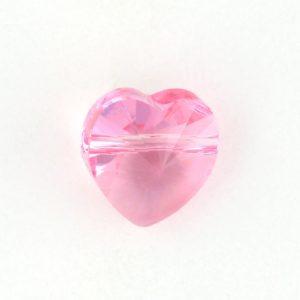 5742 - 10mm Swarovski Crystal Heart Bead - Light Rose