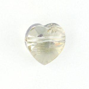 5742 - 10mm Swarovski Crystal Heart Bead - Silver Shade