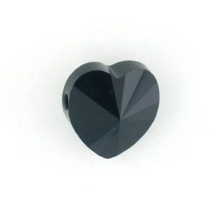 5742 - 14mm Swarovski Crystal Heart Bead - Jet