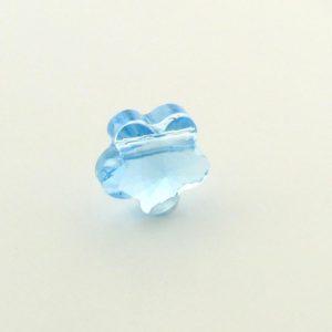 5744 - 8mm Swarovski Crystal Flower Bead - Aquamarine