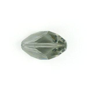 5650 - 12x8mm Swarovski Cubist Crystal Bead - Black Diamond