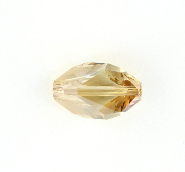5650 - 12x8mm Swarovski Cubist Crystal Bead - Golden Shadow