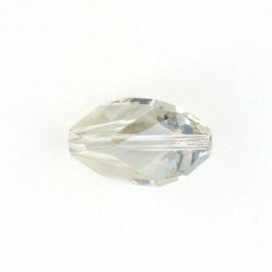 5650 - 16x10mm Swarovski Cubist Crystal Bead - Silver Shade