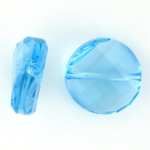 5621 - 14mm Swarovski Twist Crystal Bead - Aquamarine