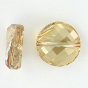5621 - 14mm Swarovski Twist Crystal Bead - Golden Shadow