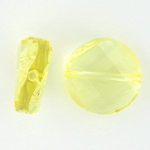 5621 - 14mm Swarovski Twist Crystal Bead - Jonquil