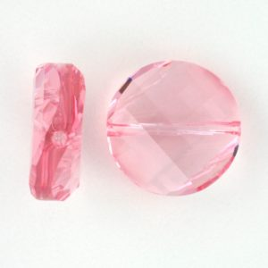 5621 - 14mm Swarovski Twist Crystal Bead - Light Rose