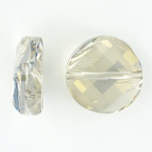 5621 - 14mm Swarovski Twist Crystal Bead - Silver Shade