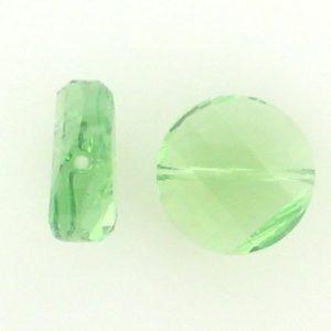 5621 - 14mm Swarovski Twist Crystal Bead - Peridot