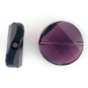 5621 - 18mm Swarovski Twist Crystal Bead - Amethyst