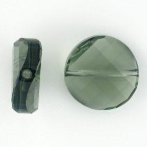 5621 - 18mm Swarovski Twist Crystal Bead - Black Diamond