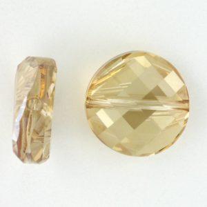 5621 - 18mm Swarovski Twist Crystal Bead - Golden Shadow