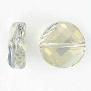 5621 - 18mm Swarovski Twist Crystal Bead - Silver Shade