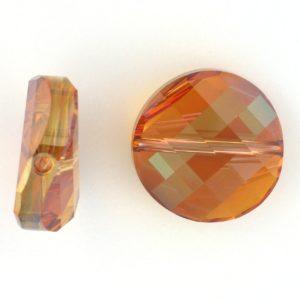 5621 - 22mm Swarovski Twist Crystal Bead - Copper