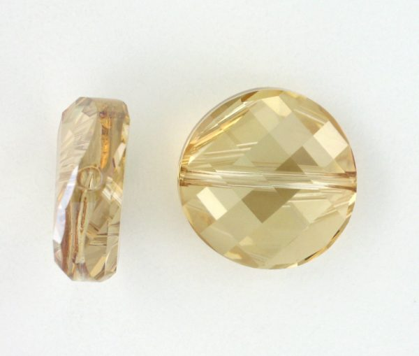 5621 - 22mm Swarovski Twist Crystal Bead - Golden Shadow