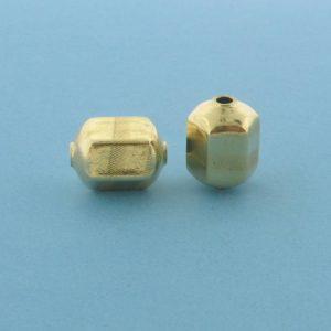 1052 - 9x11.2mm Gold Filled Fancy Bead