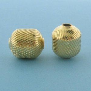 1068 - 11x13.2mm Gold Filled Fancy Bead