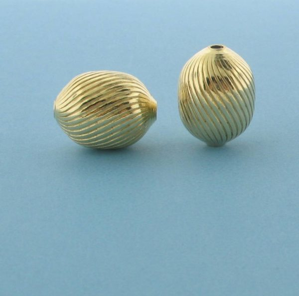 1072 - 10x13.5mm Gold Filled Fancy Bead