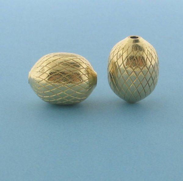 1073 - 10x13.5mm Gold Filled Fancy Bead