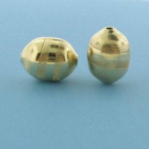 1074 - 10x13.5mm Gold Filled Fancy Bead