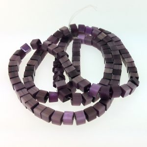 "9508 - 3x3mm Square Cat's Eye Beads (16"" Strand) - Amethyst"