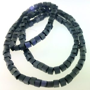 "9508 - 3x3mm Square Cat's Eye Beads (16"" Strand) - Black"