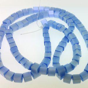 "9508 - 3x3mm Square Cat's Eye Beads (16"" Strand) - Light Sapphire"