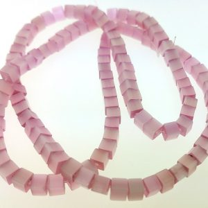 "9508 - 3x3mm Square Cat's Eye Beads (16"" Strand) - Pink"
