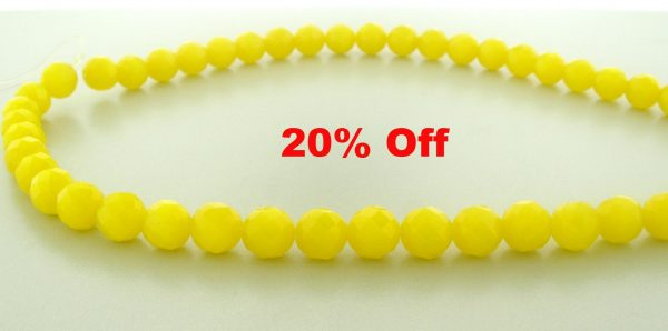 9504 - 10mm Round Faceted Cat's Eye - Yellow