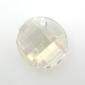 6621 - 28mm Swarovski Twist Pendant - Silver Shade