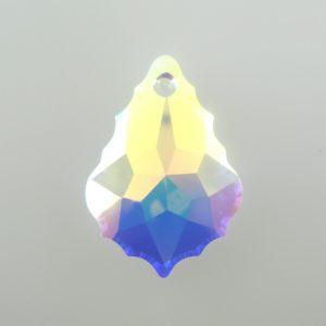 6091 - 28mm Swarovski Flat Baroque Pendant - Crystal AB