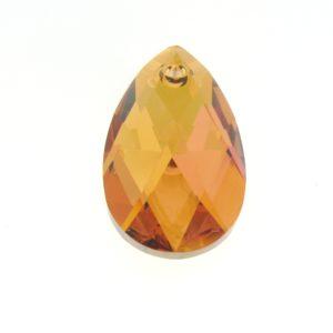 6106 - 16mm Swarovski Pear Shaped Pendant - Copper