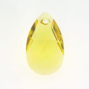 6106 - 22mm Swarovski Pear Shaped Pendant - Light Topaz