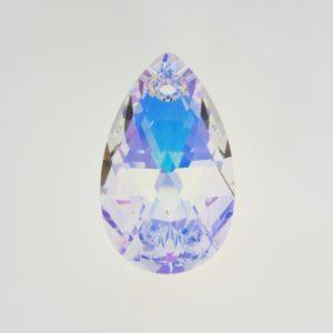 6106 - 28mm Swarovski Pear Shaped Pendant - Crystal AB