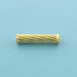 1158 - 4x19mm Gold Filled Fancy Tube Bead
