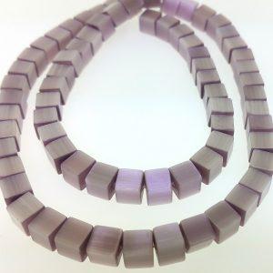 "9510 - 6mm Square Cat's Eye Beads (16"" Strand) - Light Amethyst"