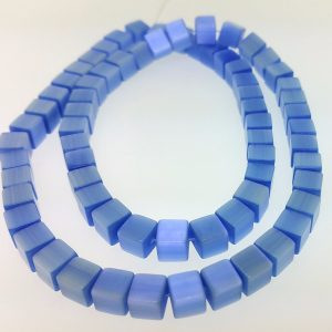 "9510 - 6mm Square Cat's Eye Beads (16"" Strand) - Light Sapphire"