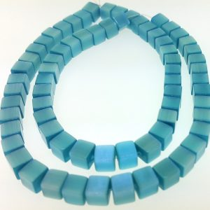 "9510 - 6mm Square Cat's Eye Beads (16"" Strand) - Turquoise"