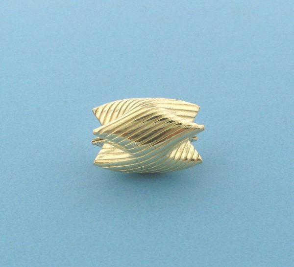 1010 - 15x10.5mm Gold Filled Interlock Bead