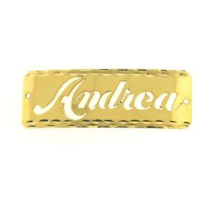 # 9718 - 14K Gold Filled Name Plate For Bracelet - Andrea