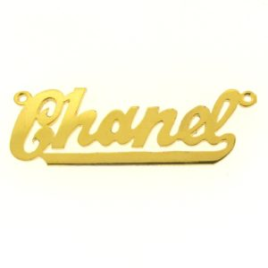 # 9602 - 14K Gold Filled Name Plate For Necklace - Chanel