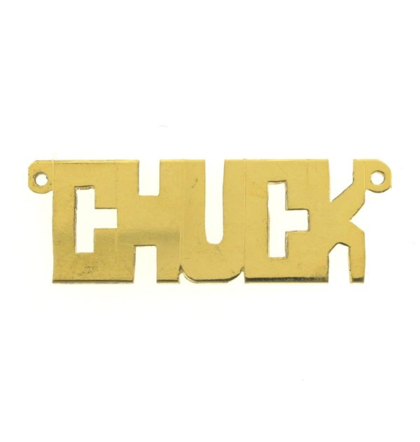 # 9603 - 14K Gold Filled Name Plate For Necklace - CHUCK