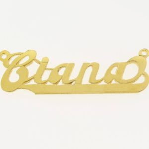 # 9604 - 14K Gold Filled Name Plate For Necklace - Ciana