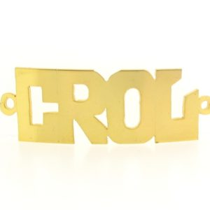 # 9722 - 14K Gold Filled Name Plate For Bracelet - CROL